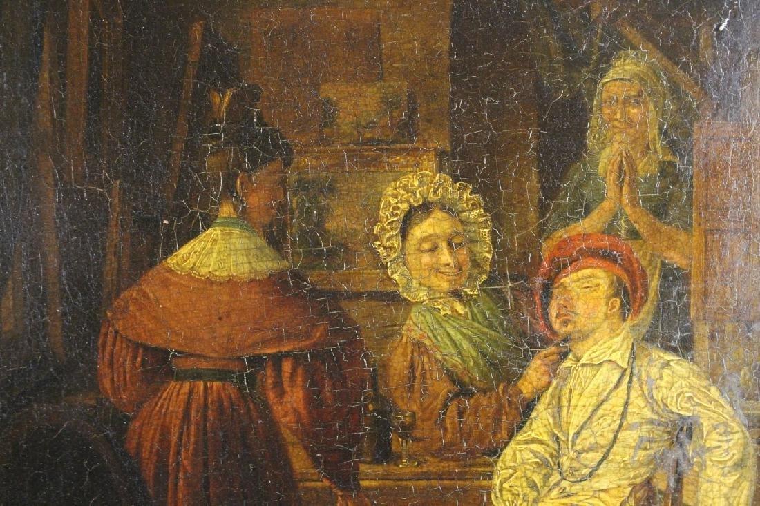 19th C. Interior Scene w/ Figures - 3