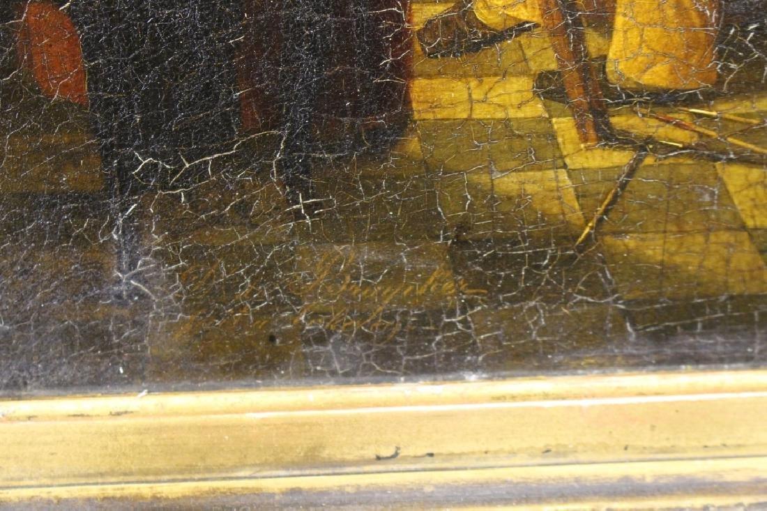 19th C. Interior Scene w/ Figures - 4