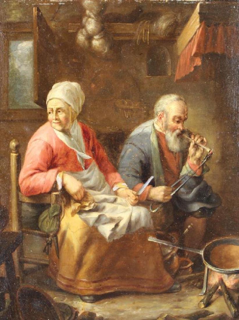 19th C. European Interior Scene, Ex Christie's - 2