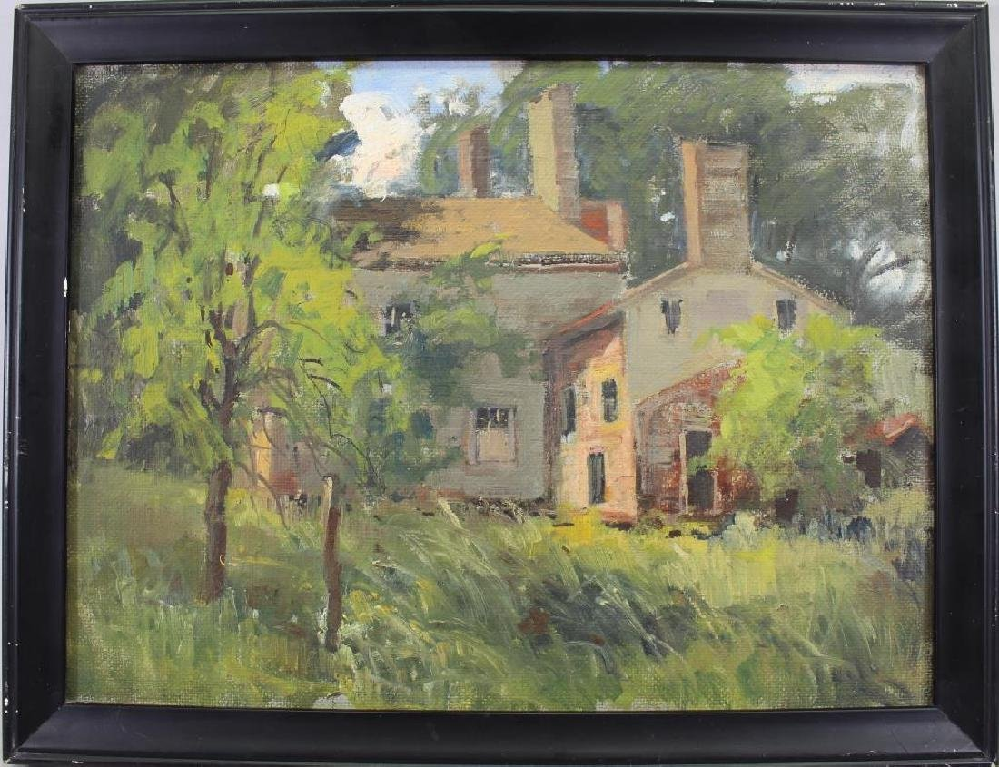 American School, Painting of Farmhouse Near Woods