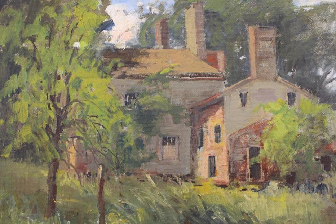 American School, Painting of Farmhouse Near Woods - 2