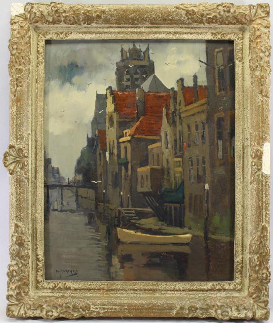 Jan Korthals (1916 - 1972) Canal in Amsterdam
