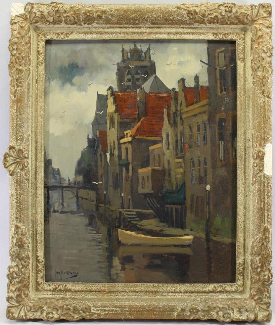 Jan Korthals (1916 - 1972) Canal in Amsterdam