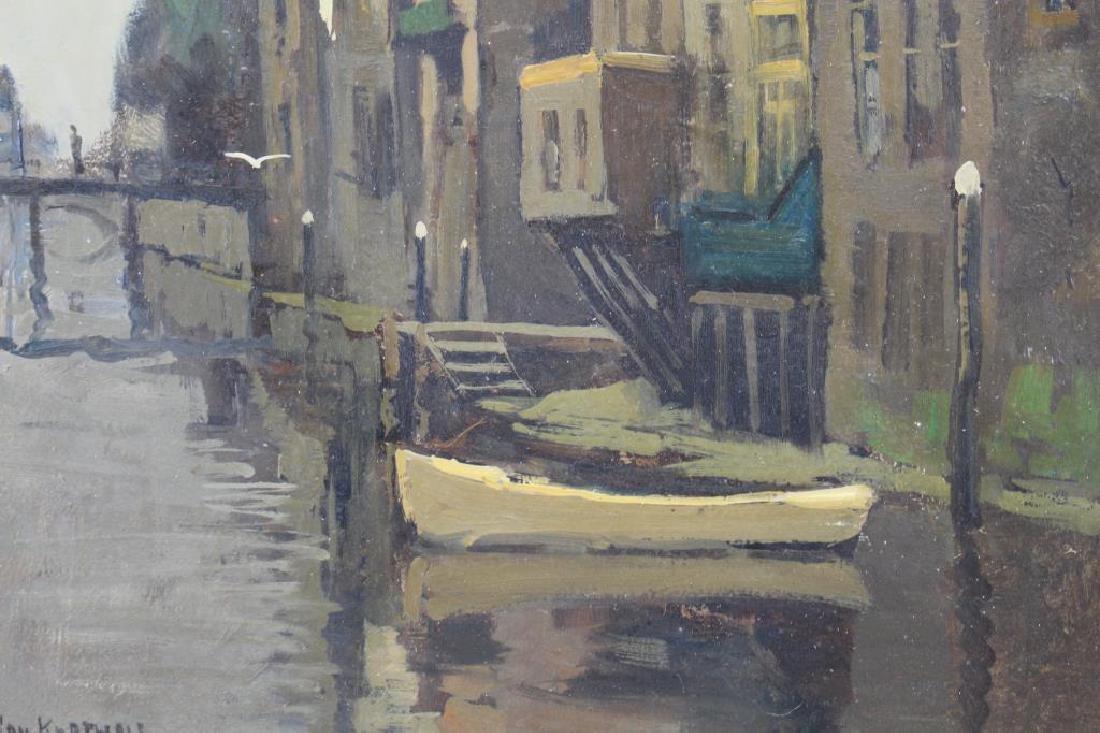 Jan Korthals (1916 - 1972) Canal in Amsterdam - 2