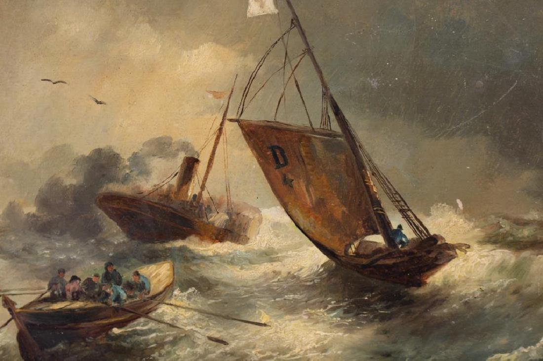 Signed, 19th C. Steamship in Distress - 2