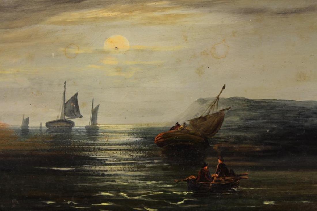 18th C. Luminous Coastal Scene with Sailboats - 2