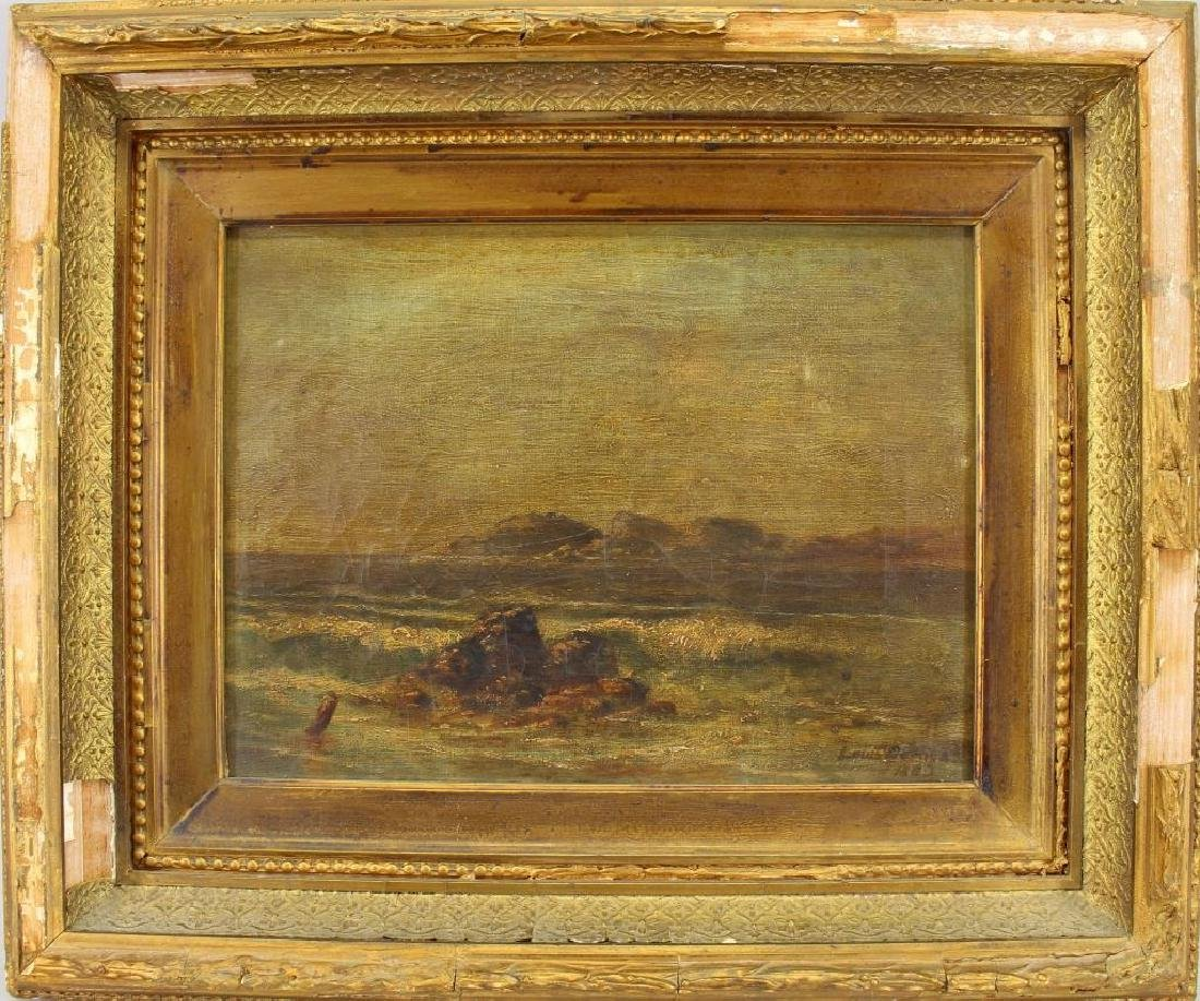 American School, Signed 19th C. Coastal Scene
