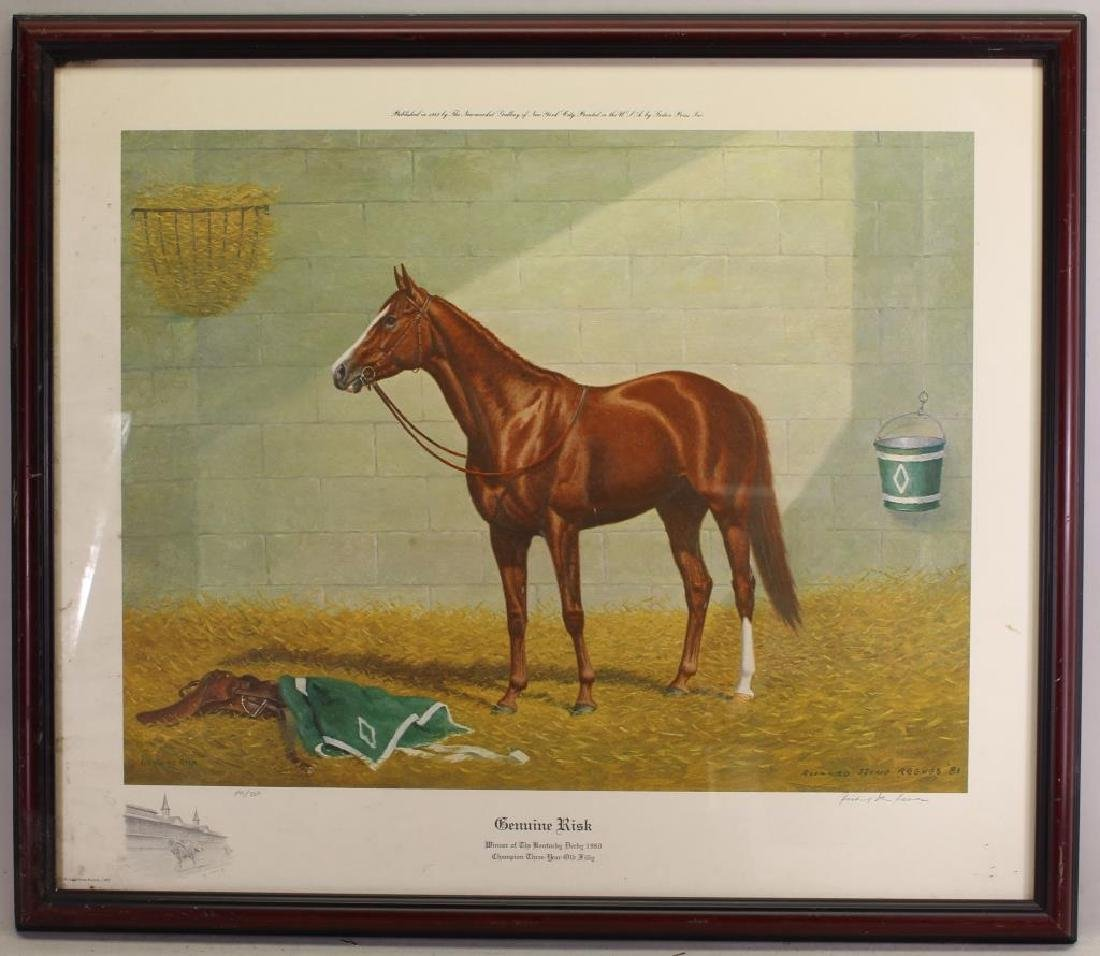 """Genuine Risk"" Kentucky Derby Winner Lithograph"