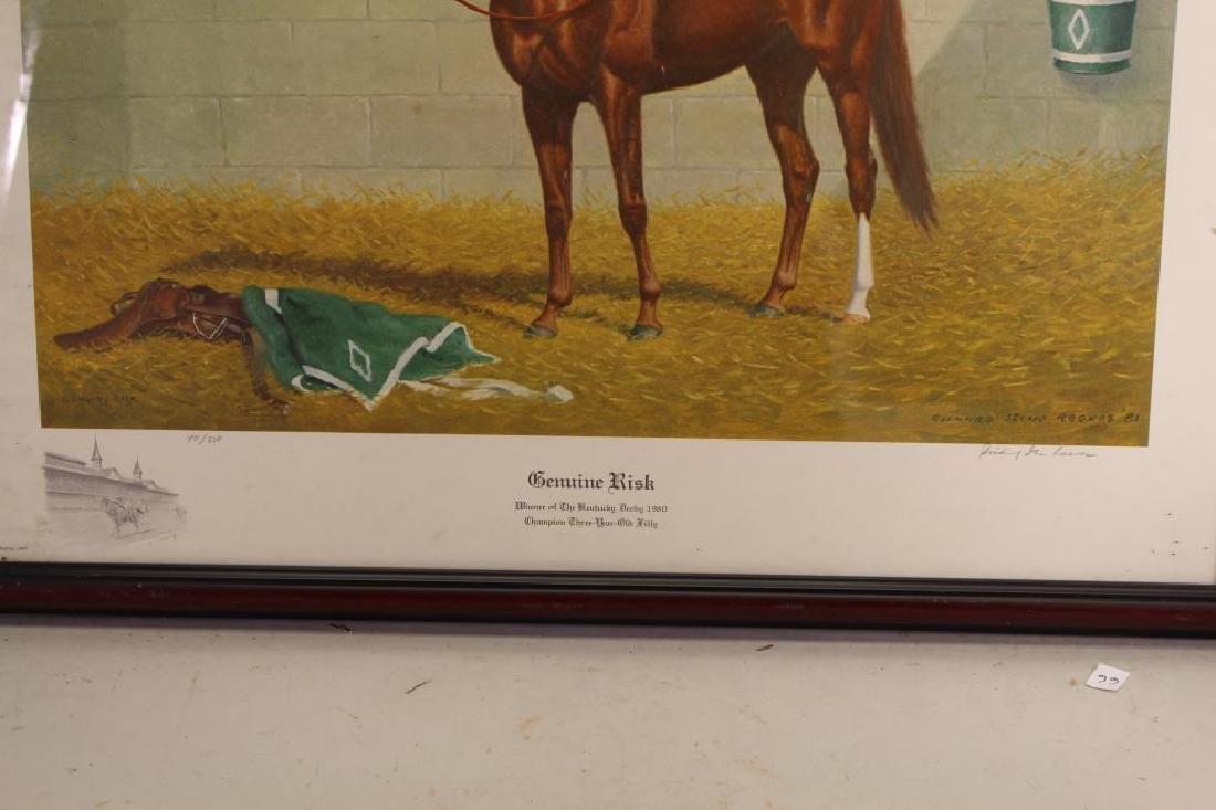 """Genuine Risk"" Kentucky Derby Winner Lithograph - 2"
