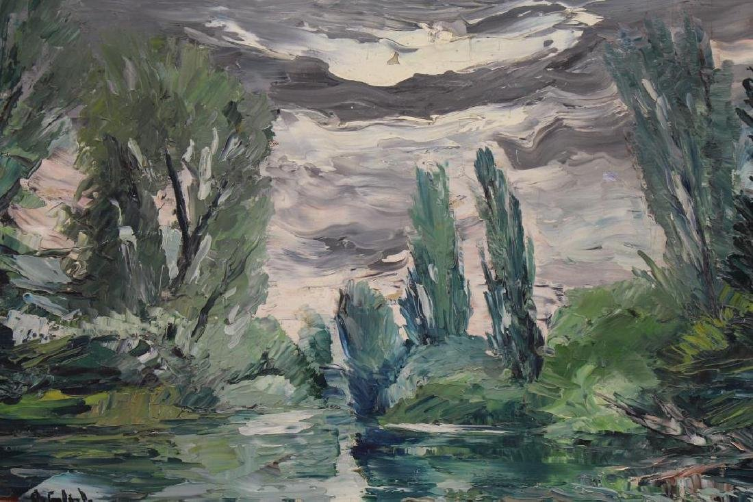 Russian School Signed Painting of Wooded Landscape - 2