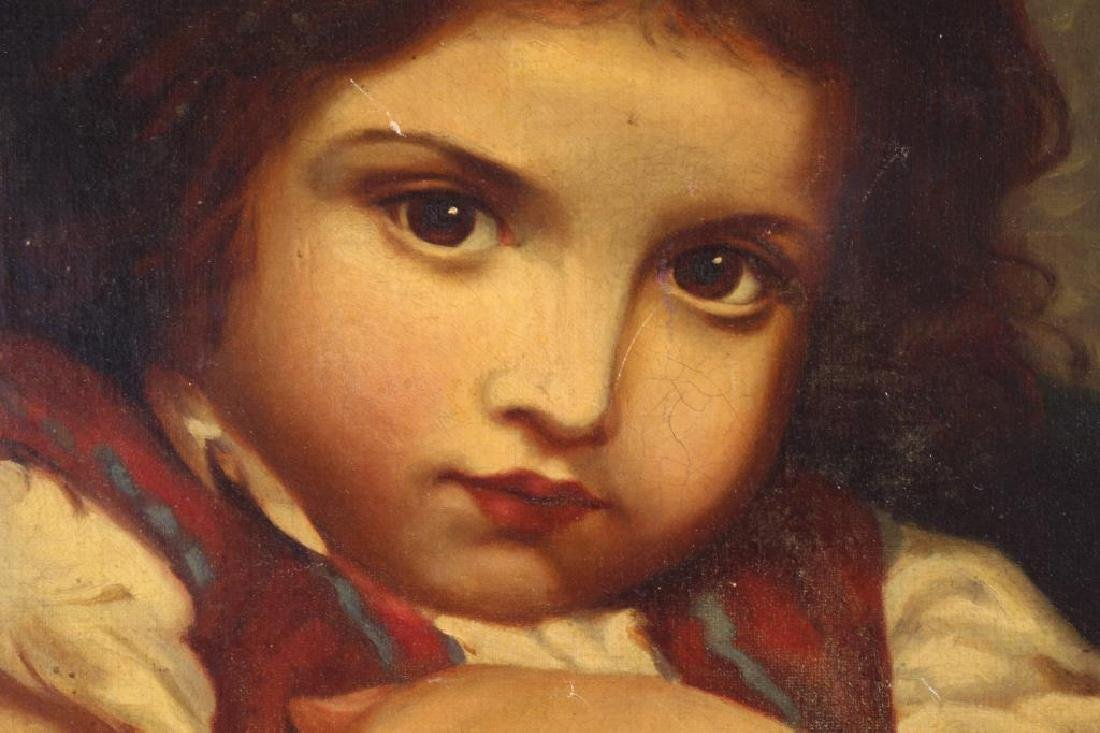19th C. European School, Young Girl with Apple - 2