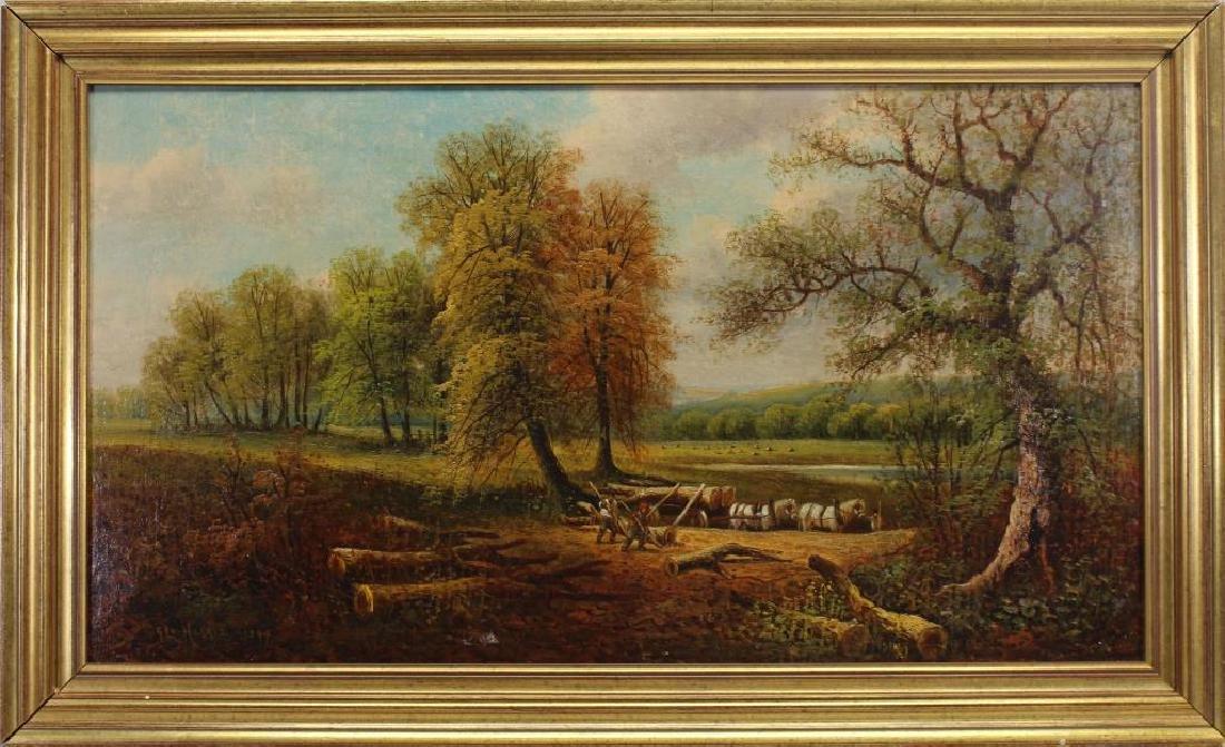 George Harris (1847 - 1915) Bucolic Landscape