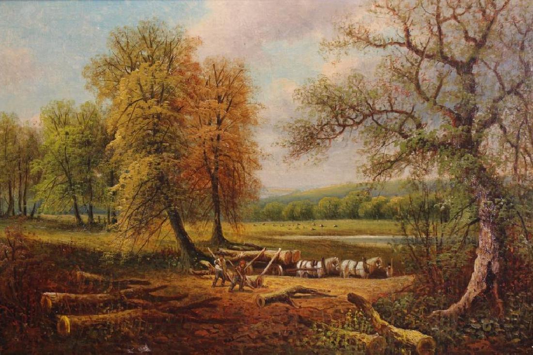 George Harris (1847 - 1915) Bucolic Landscape - 2