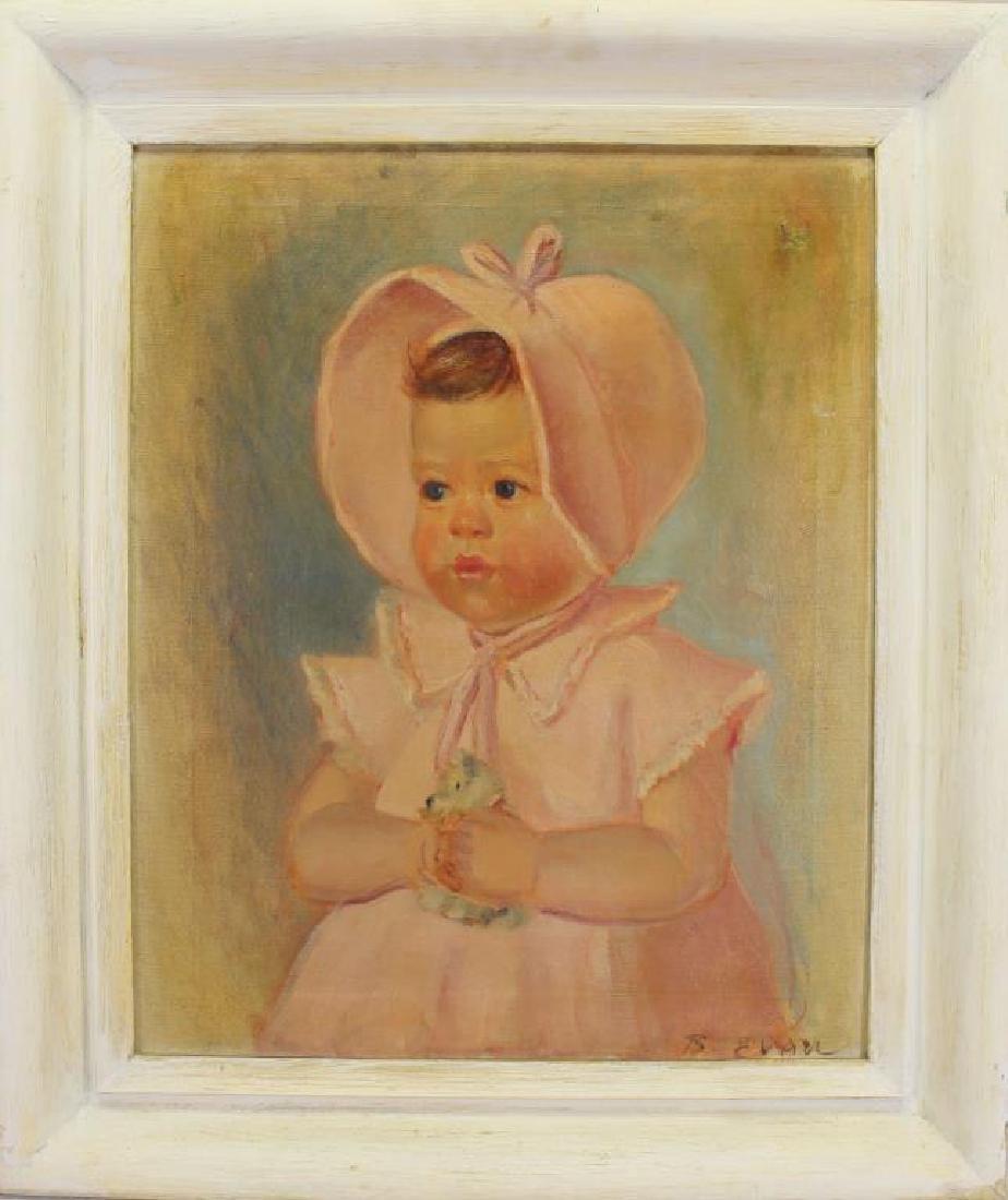 Signed B. Evan, Portrait of an Infant
