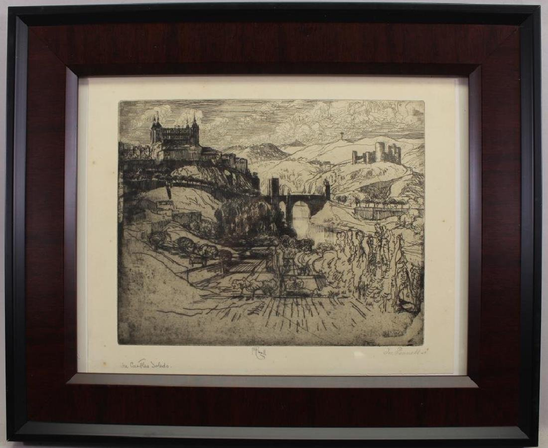 Joseph Pennell (1857-1926) Toledo Castle Etching