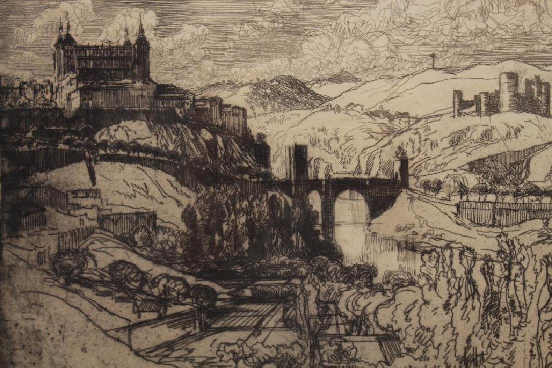 Joseph Pennell (1857-1926) Toledo Castle Etching - 2