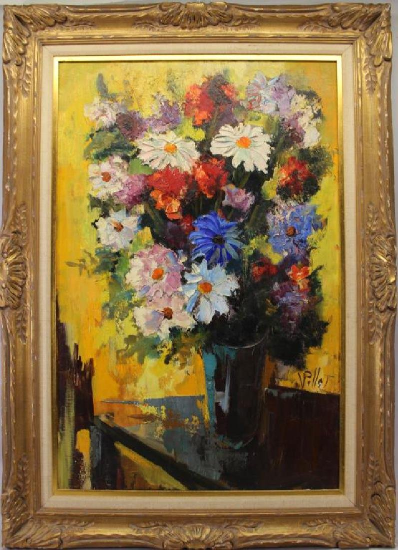 Signed, 20th C. Painting of a Floral Bouquet