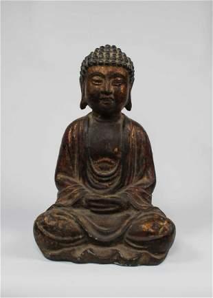 Rare 17th C. Bronze Amitabha Mudra of Samadhi