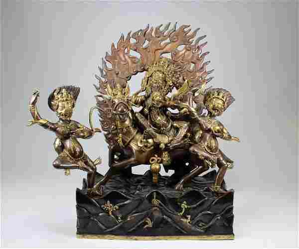 Exceptional Antique Tibetan Bronze Palden Lhamo