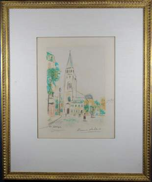 "Maurice Utrillo (1883-1955), ""St Germain Des Pres"""