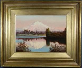 Manner of Albert Bierstadt (1830-1902) Mt. Shasta