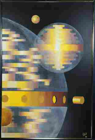 Ralph Knasinski (MN 20th C.) Surrealist Painting