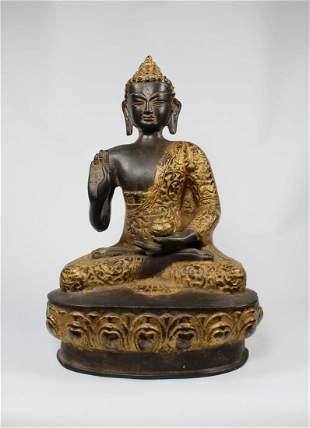 Rare 18th C. Bronze Dhyana Buddha, Golden Triangle