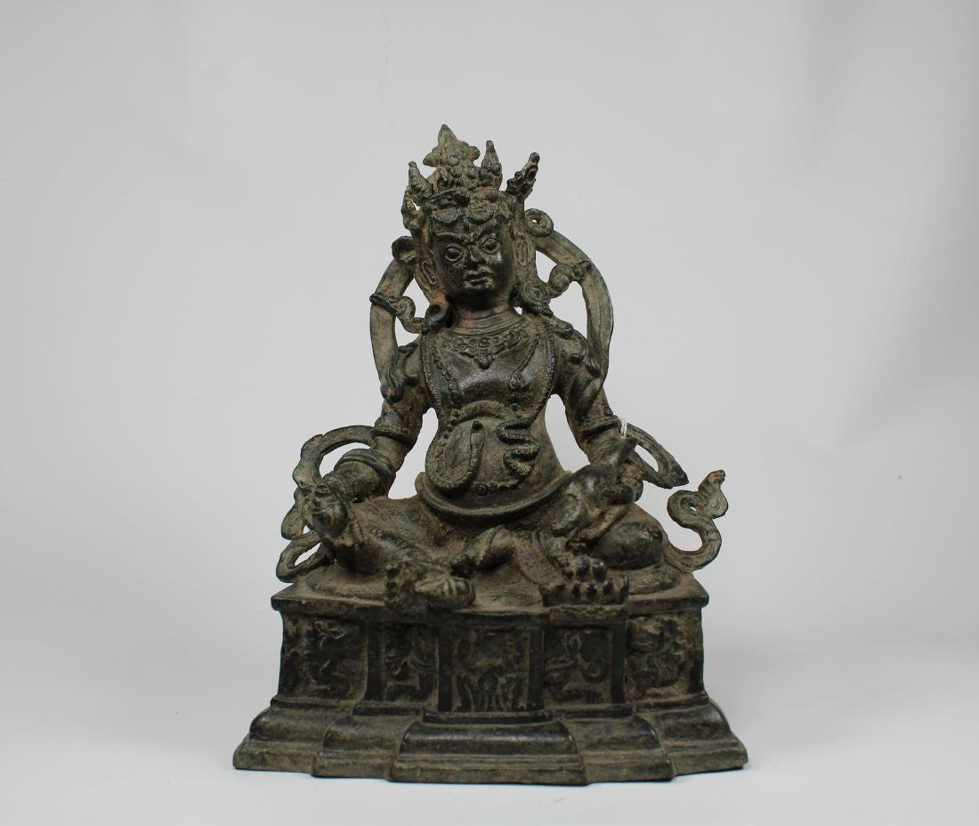Chinese Ming Dynasty Mahayana Style Lord of Wealth