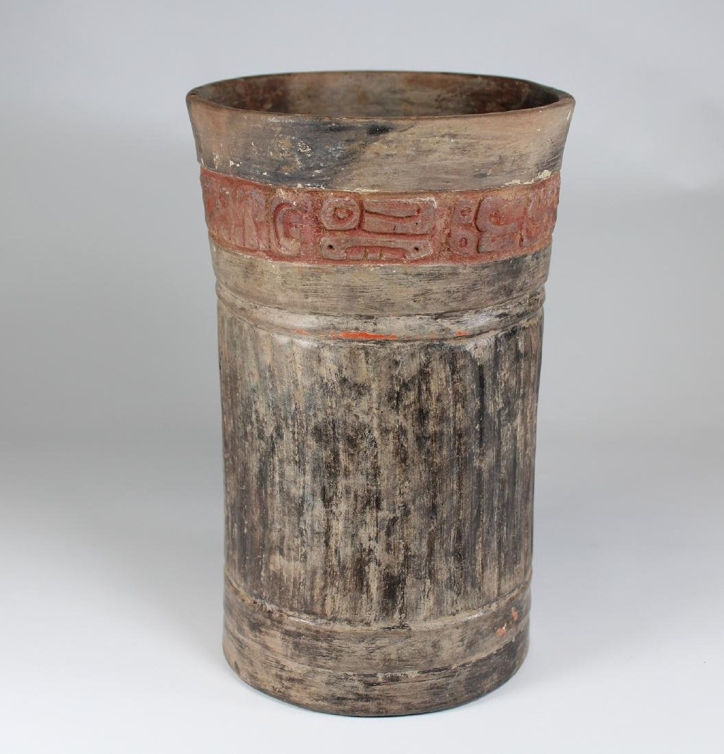 Maya Cylinder from El Salvador ca. 250-800 AD