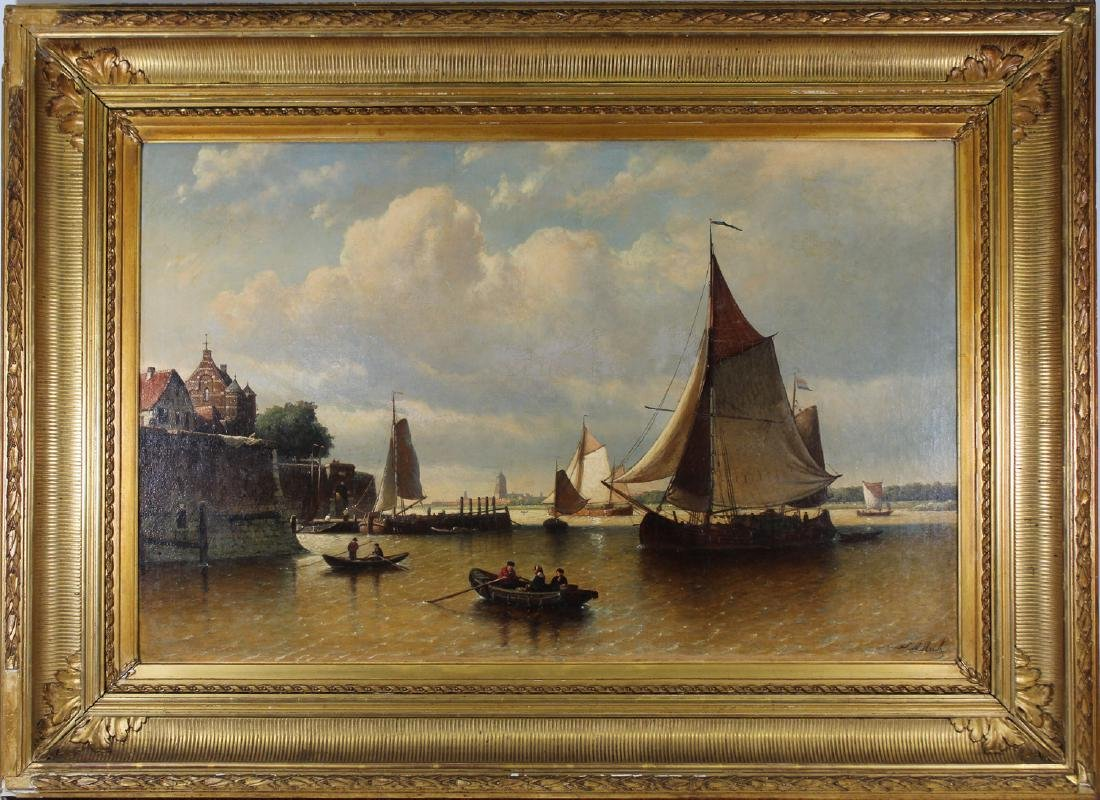 Johan Adolph Rust (1828-1915) Monumental Painting