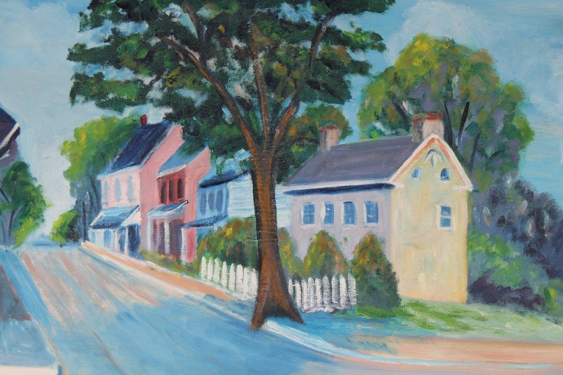 Rapp, Vintage Painting of New England Town - 2