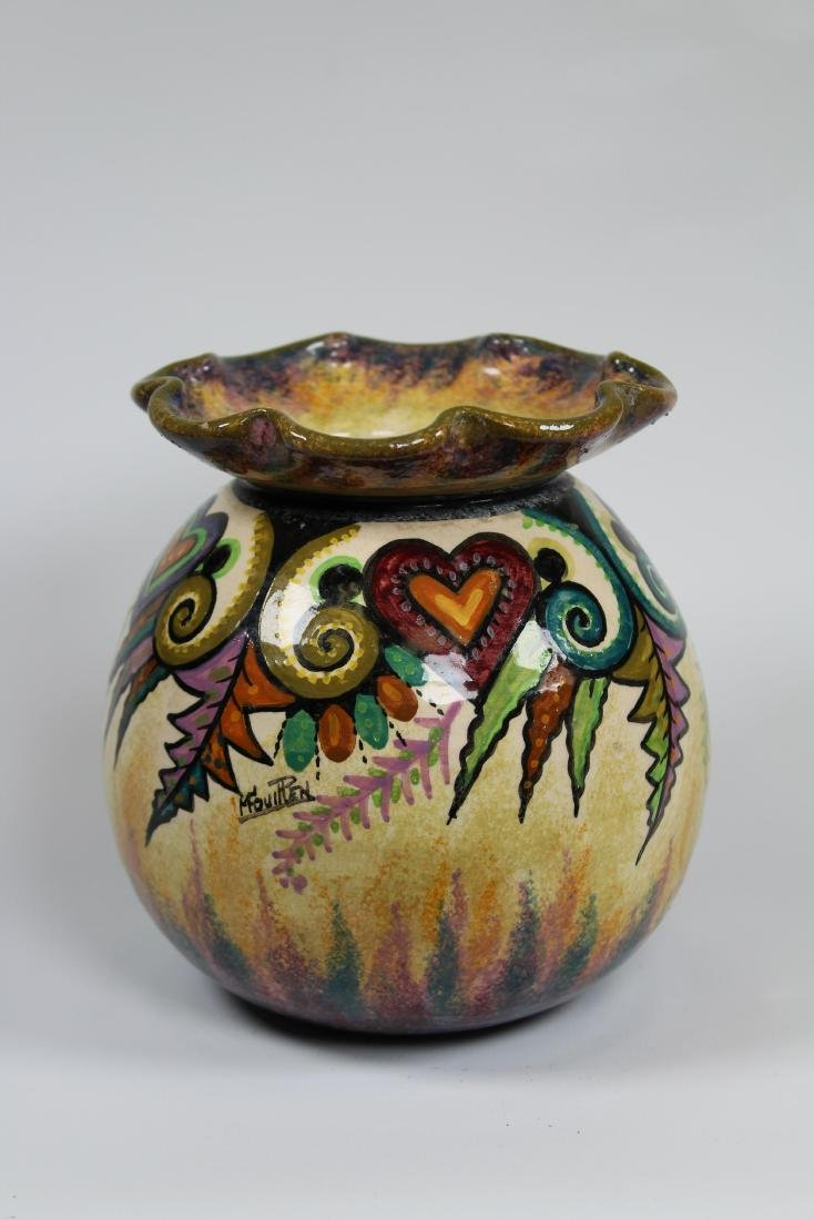 Signed, Quimper Art Pottery Vase