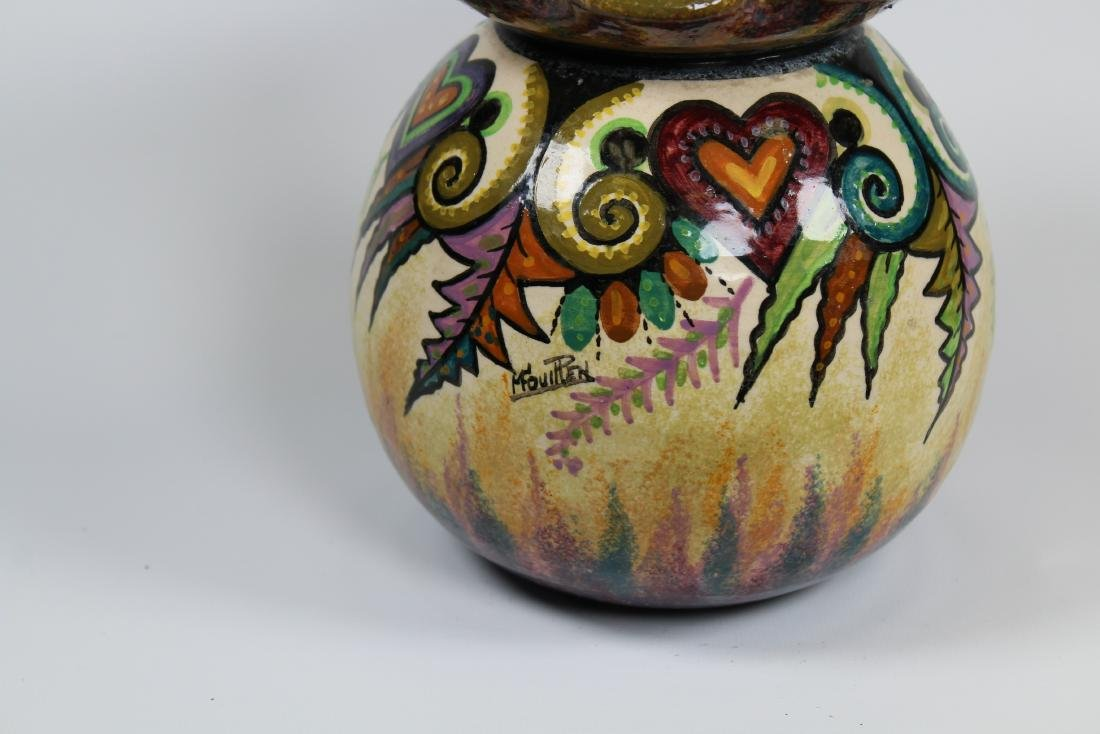 Signed, Quimper Art Pottery Vase - 2