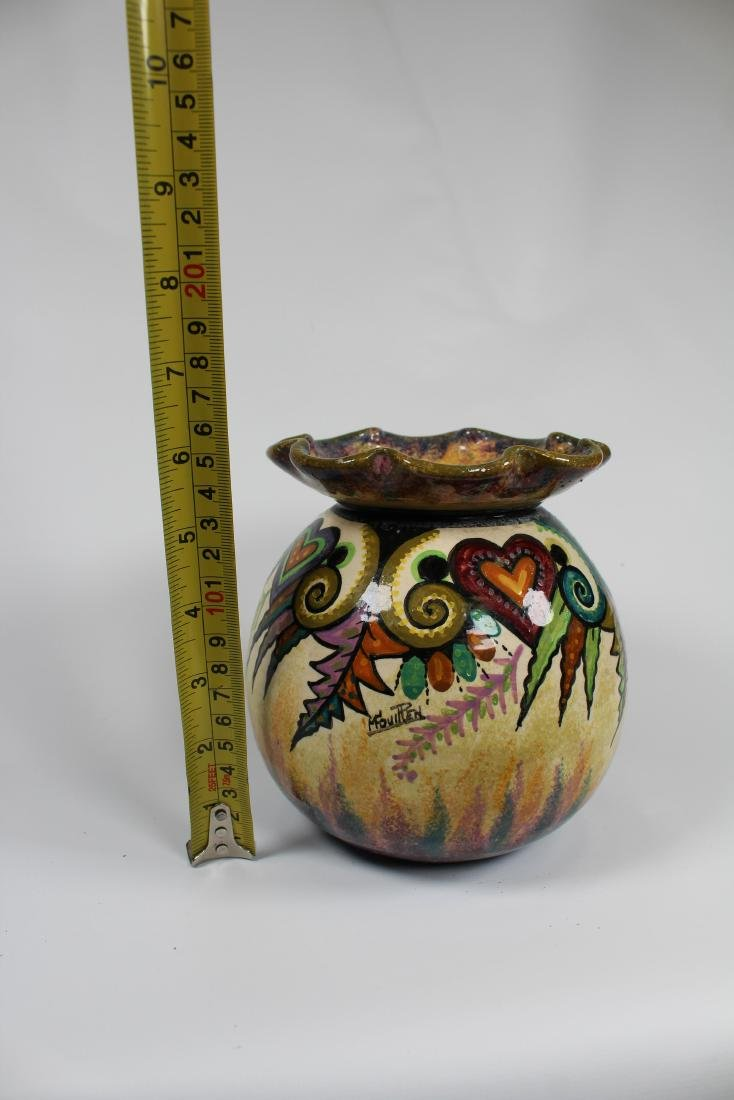 Signed, Quimper Art Pottery Vase - 3
