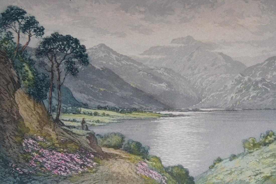Antique Colored Engraving of European Landscape - 2