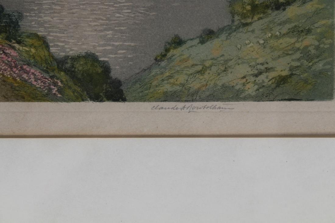 Antique Colored Engraving of European Landscape - 3