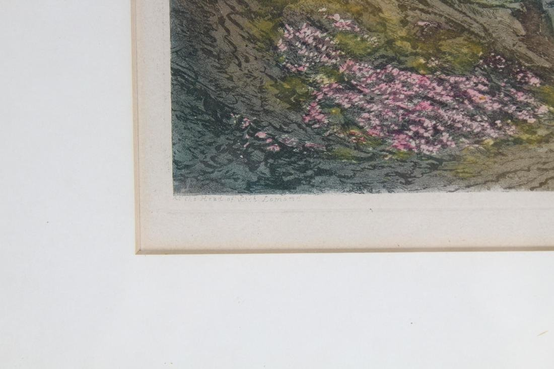 Antique Colored Engraving of European Landscape - 4