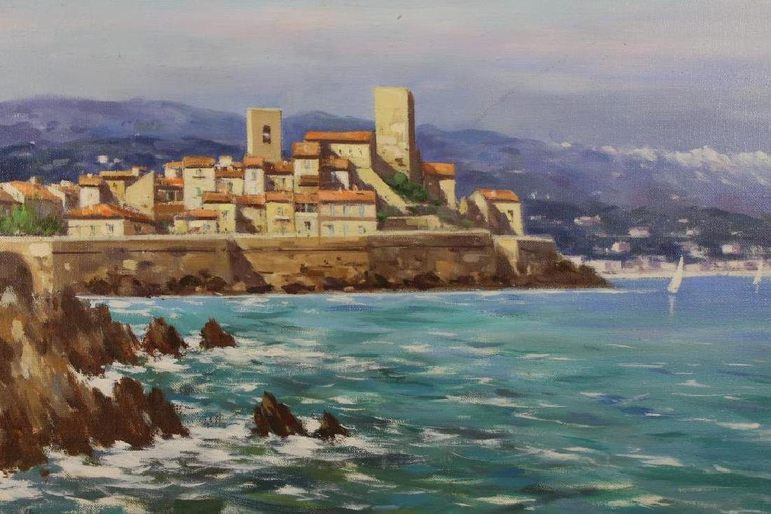Italian School, 20th C. Coastal Painting. Signed - 2