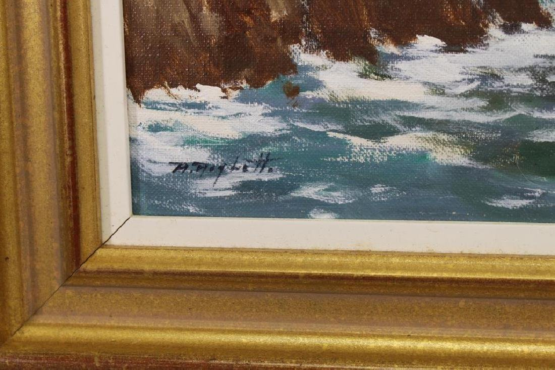 Italian School, 20th C. Coastal Painting. Signed - 3
