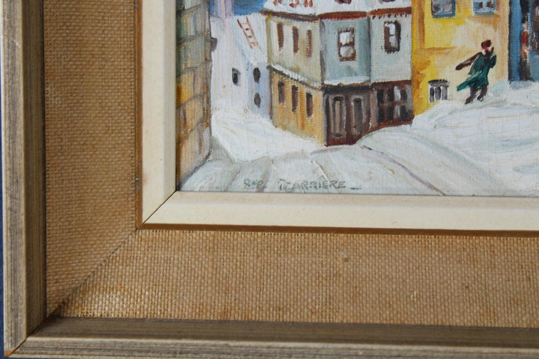 Signed, 20th C. Winter Village Scene with Figures - 3