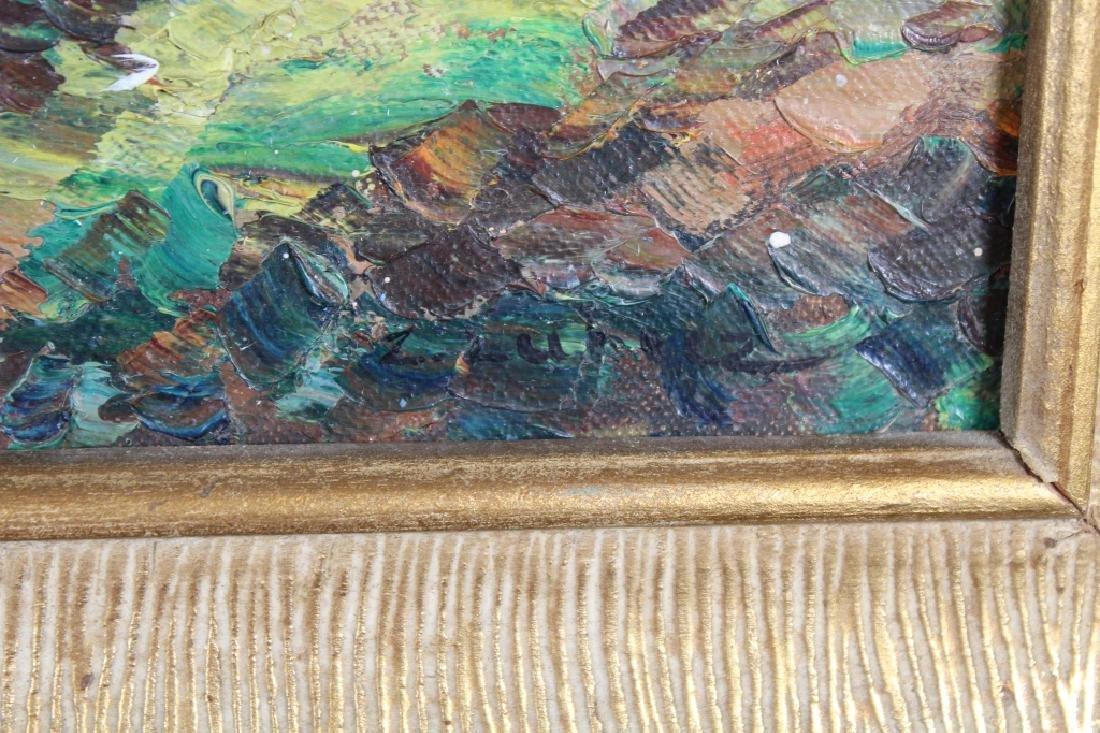 Signed Impressionist Painting of Western Landscape - 3