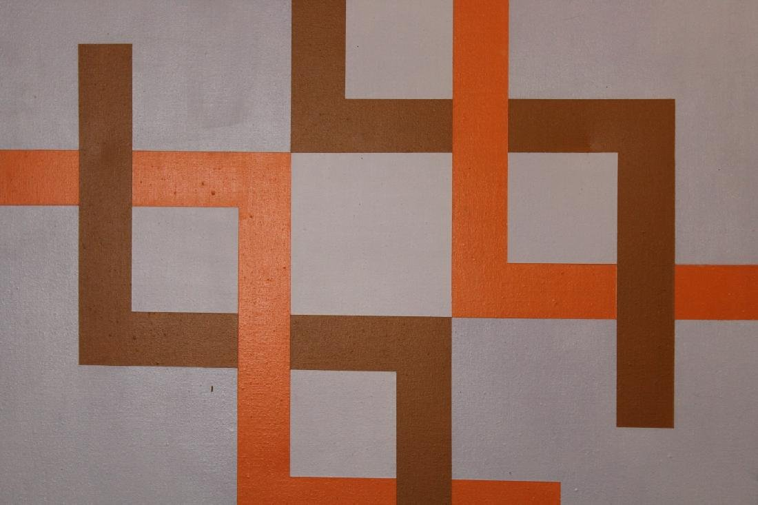 2 Kostka '77, Signed Geometric Abstract Paintings - 2