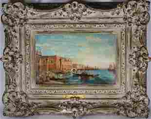 "Felix Ziem (France, 1821-1911) ""Canal in Venice"""