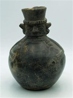 Lambayeque Figural Jar Peru ca 7001300 AD