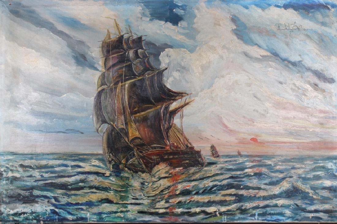 Augustus Lavinci Williams, Clipper Ship Painting