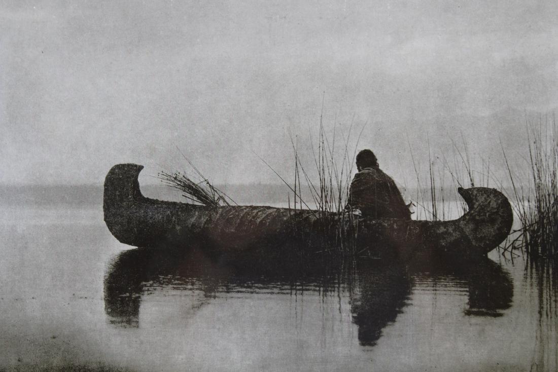 """Edward Curtis Photogravure/Poster """"Duck Hunter"""" - 2"""