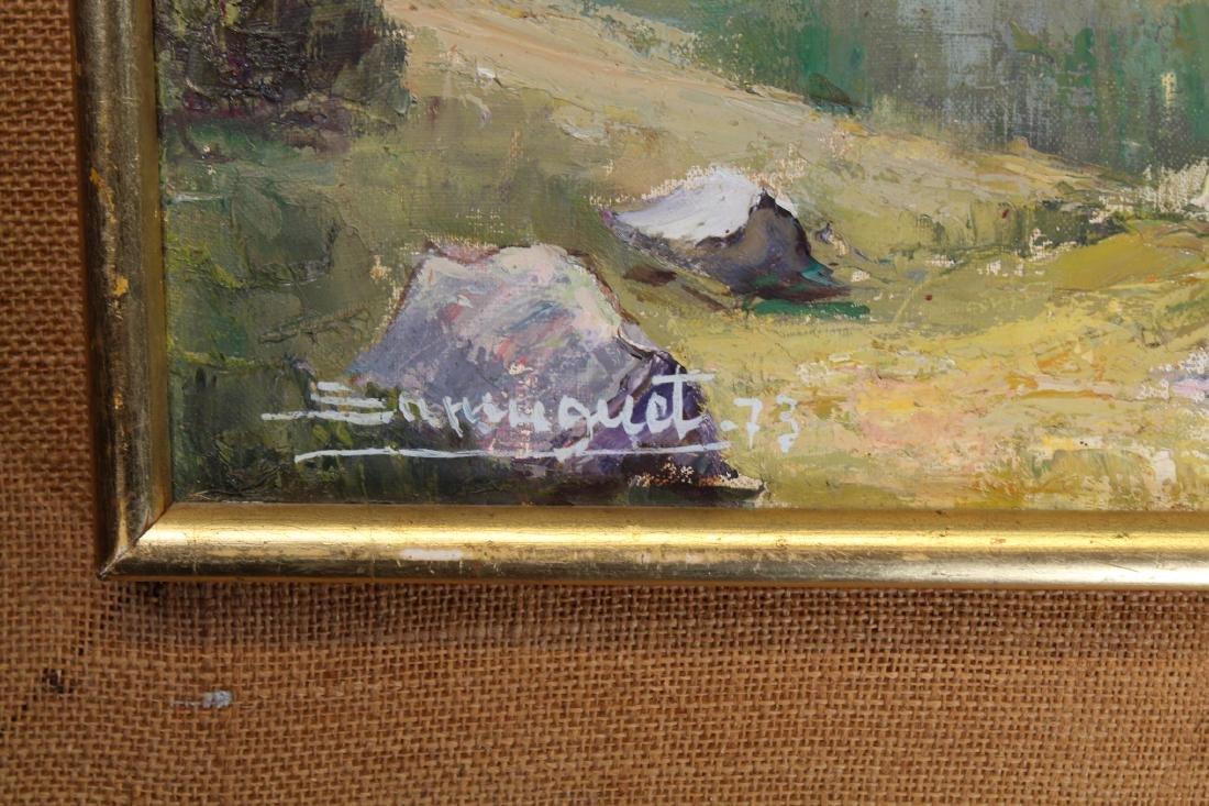Spanish School, Signed Village Scene. 20th C. - 3