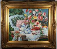 Large Contemporary Still Life Bouquet of Flowers