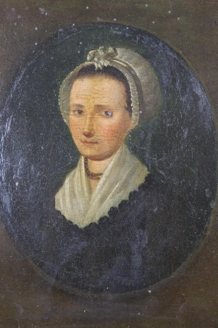 18th C. American School Portrait of a Woman - 2