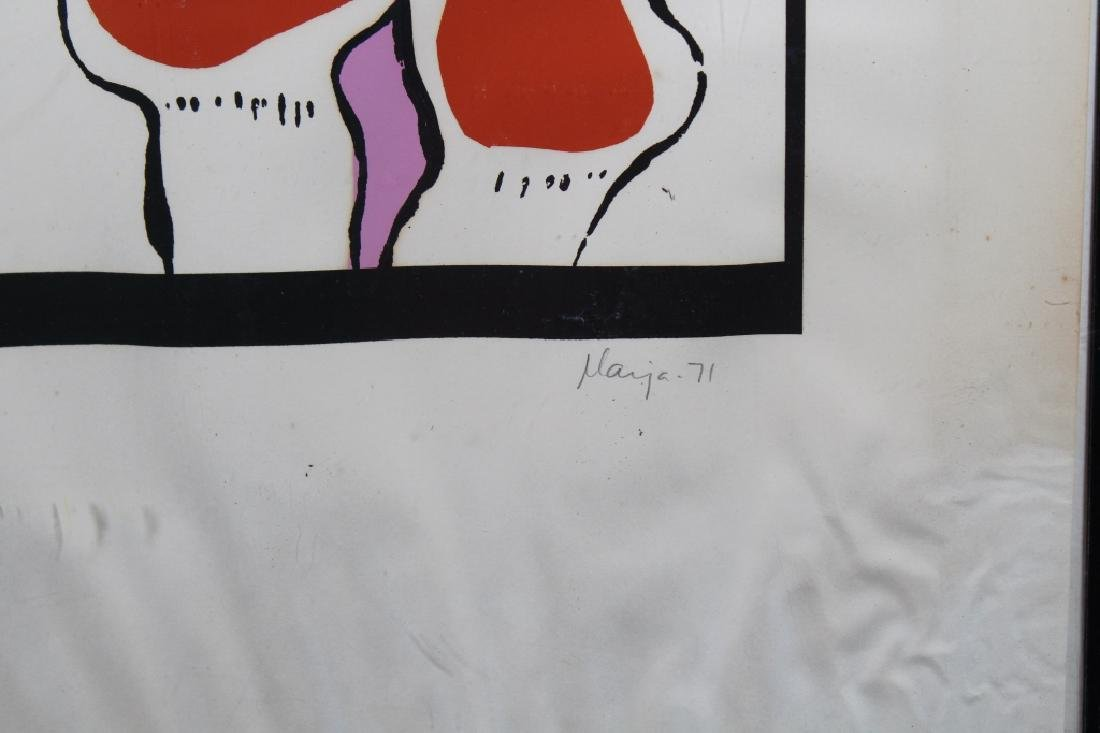'71 Signed, Abstract Lithograph - 3